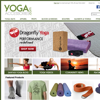 Yoga Accessories Website
